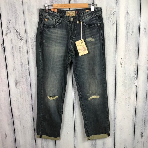 Dear John Denim - Dear John 27 NWT Jesse Boyfriend Jeans Distressed
